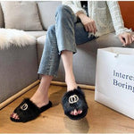 Winter Cozy Flat Women House Home Slippers