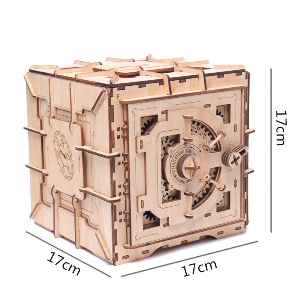 Mystery Wooden Safe Build From Scratch - Great for Older Children, Family Groups and Teens - ADHD