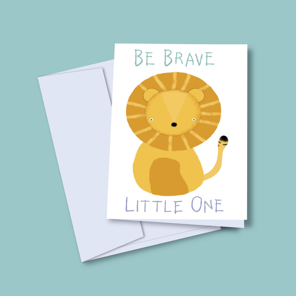 'Brave' Greeting Card for Children