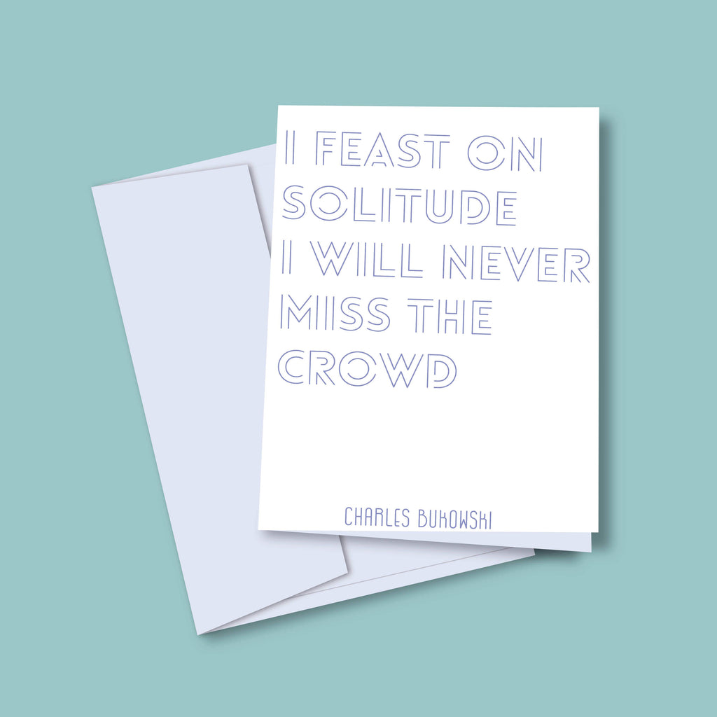 Bukowski Introvert Anxiety Greeting Card