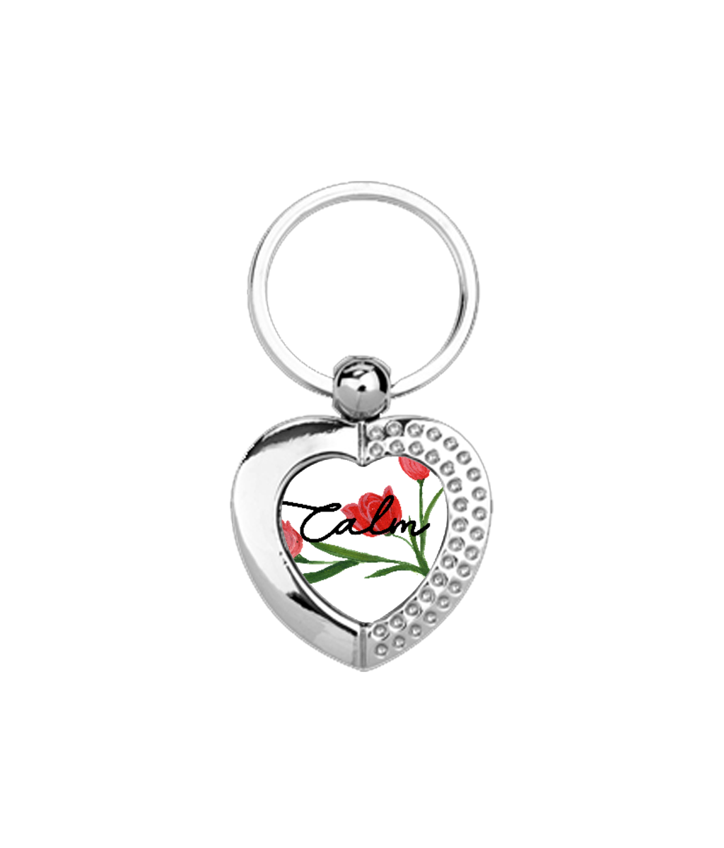 Calm Metal Keyring