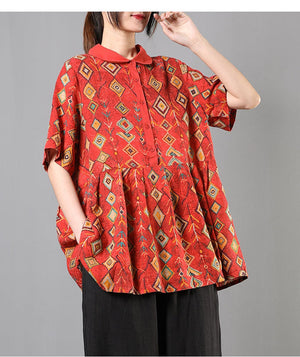 Printed Rare Hand Crafted Loose Fitting Shirt