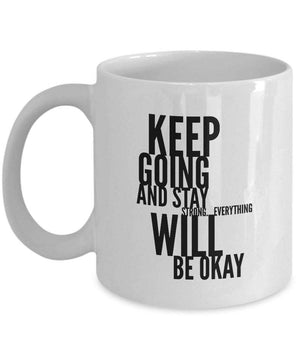 Motivational Mug to Keep on Track for Anxiety, Depression and other Mental Challenges