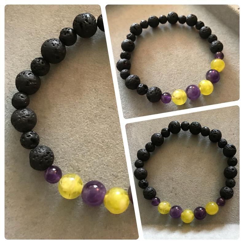 Lava Stone Crystal Bracelet for OCD