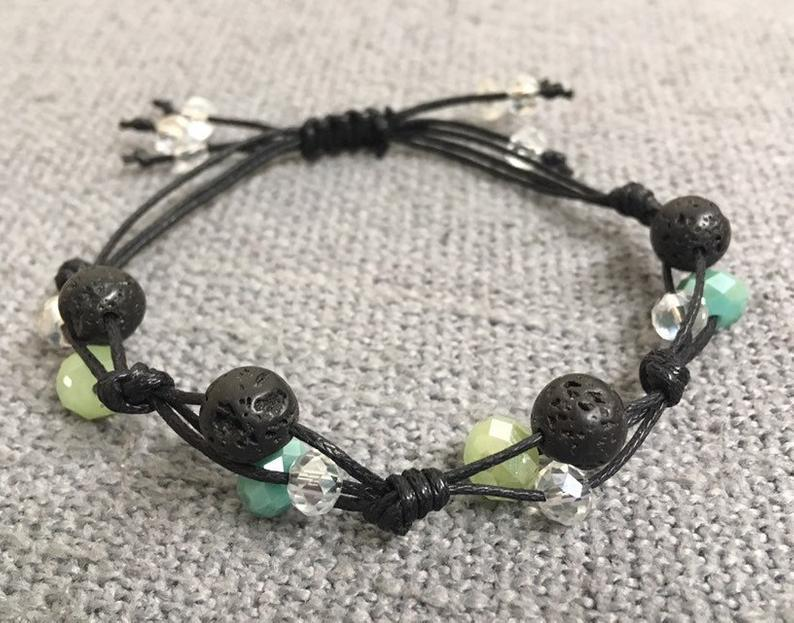 Lava Beads Bracelet for Mental Wellness -  Anxiety, OCD, Depression, PTSD
