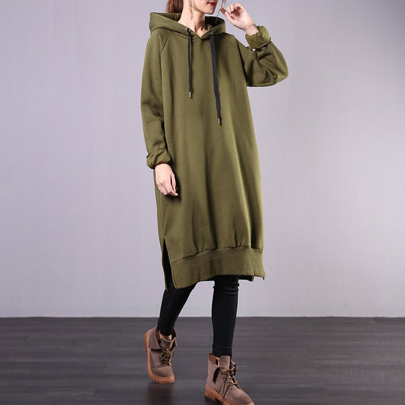 Warm Hooded Pullover Winter Long Sweater
