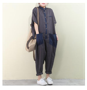 Women Summer Overalls Cotton Outfit Pants