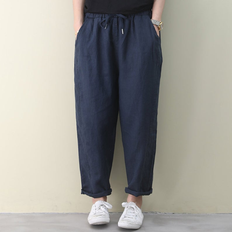 Cropped Harem Loose Pants