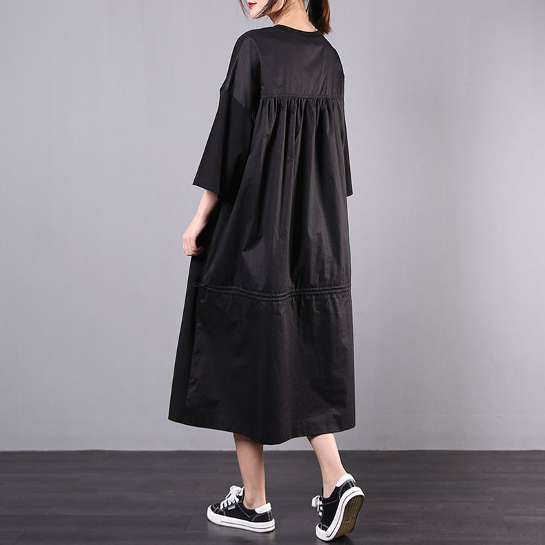 Loose Mid-Length Casual Short-Sleeved Dress