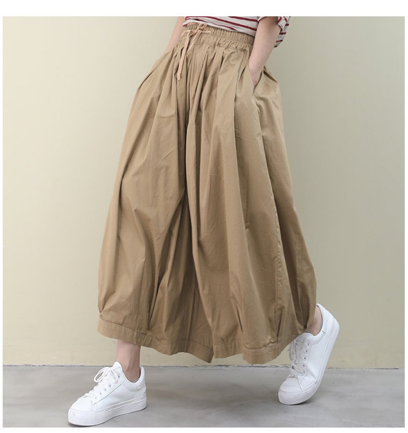 Loose  Pleated Skirt Pants