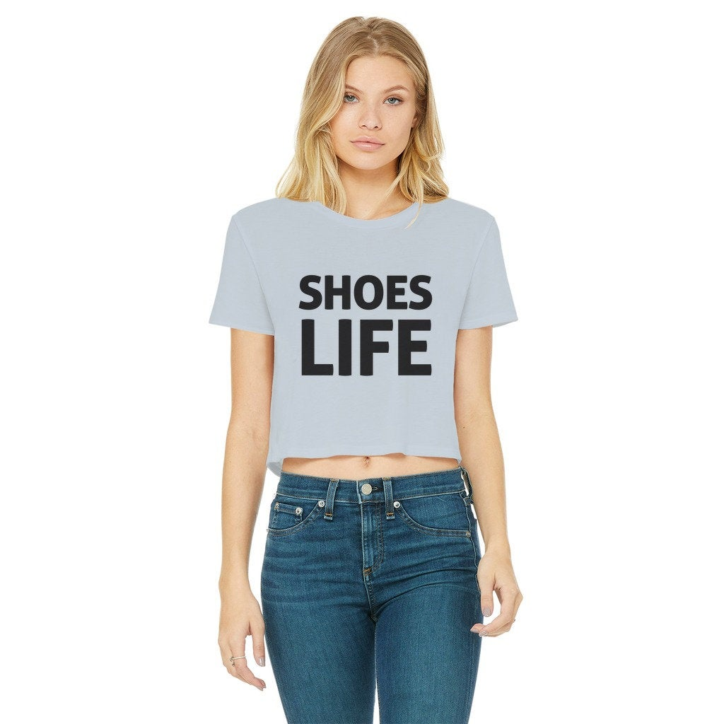 Stylish SHOES LIFE  Raw Edge T-Shirt Boyfriend Cut - Ideal for Date Nights, and Chilling with Netflick - Tiktok Influencers will love this