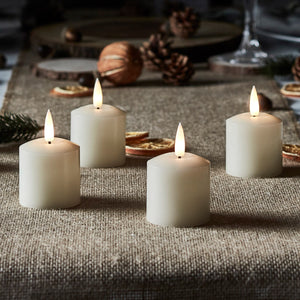 Lot de 4 Bougies Votives TruGlow® à LED