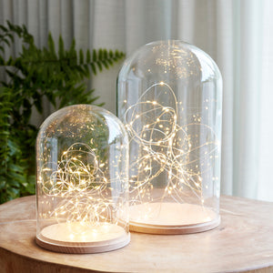 Lot de 2 Cloches en Verre Minimalistes