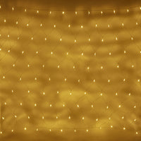 Filet Lumineux 140 LED Blanc Chaud Câble Transparent 2 x 1,5 m