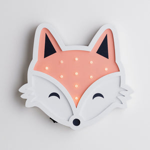 Applique Murale Enfant Mr Fox en Bois à Piles