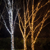 Guirlande Lumineuse 160m 1600 LED Blanche Câble Blanc Raccordable Série Pro