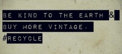 vintage recycle quoate