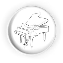 Load image into Gallery viewer, Wall Clock with Piano Design