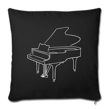 Load image into Gallery viewer, Throw Pillow Cover with Piano Design - black