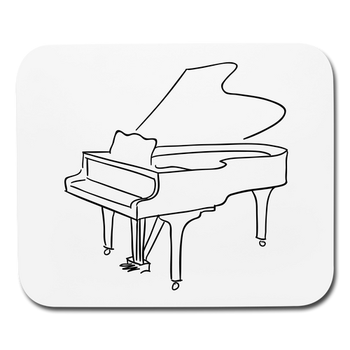 Mouse Pad with Piano Design - white