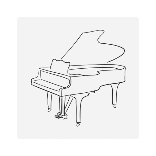 Square Stickers with Piano Design