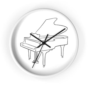 Wall Clock with Piano Design