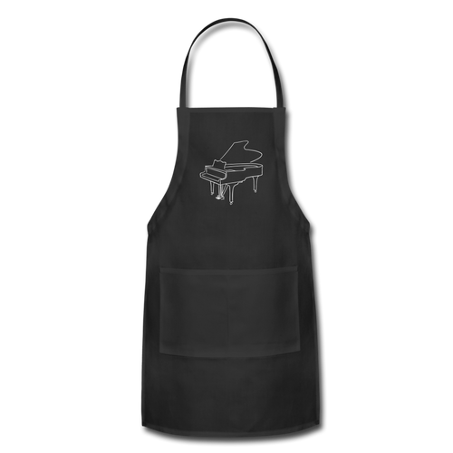 Apron with Piano Design - black