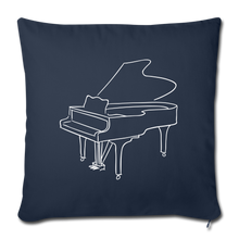 Load image into Gallery viewer, Throw Pillow Cover with Piano Design - navy