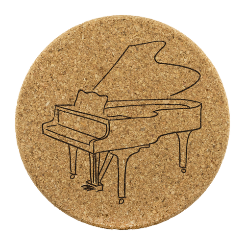 Coasters with Piano Design