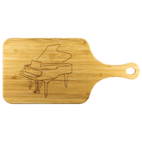 Cutting Board with Handle and Piano Design
