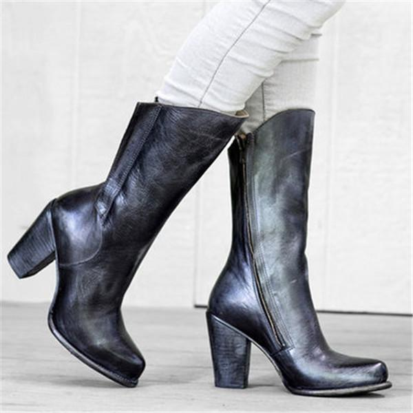 Fashion Retro Boots With Women's Long Boots