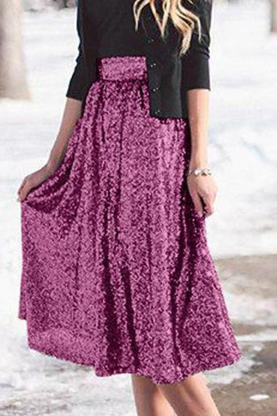 Fashion Big Swing Flared Skirt