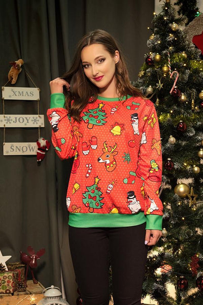 Christmas New Fashion   Print Sweater