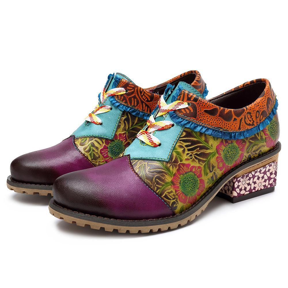 New casual   vintage ethnic style leather fashion shoes