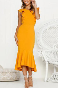 Sleeveless Fishtail Slim Dress