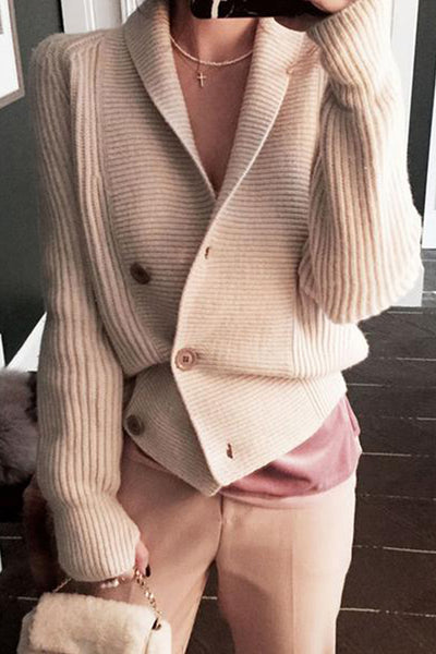 Fashion Pure Colour   Long Sleeve Sweater