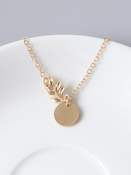 Fashion Flower Copper Necklace