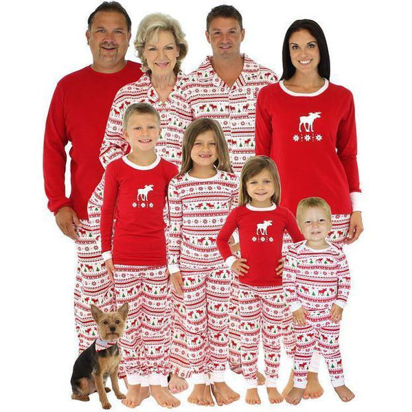 Christmas Reindeer Prints Family Pajamas