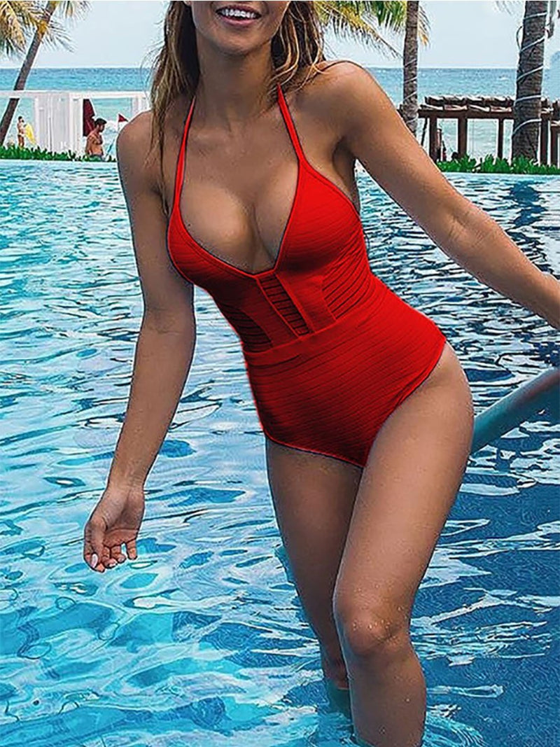 Halter  Plain One Piece