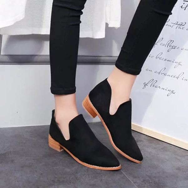 All Season Chunky Heel Casual Suede Boots