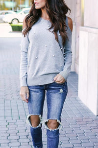 Crew  Neck  Plain Casual  Sweatshirts