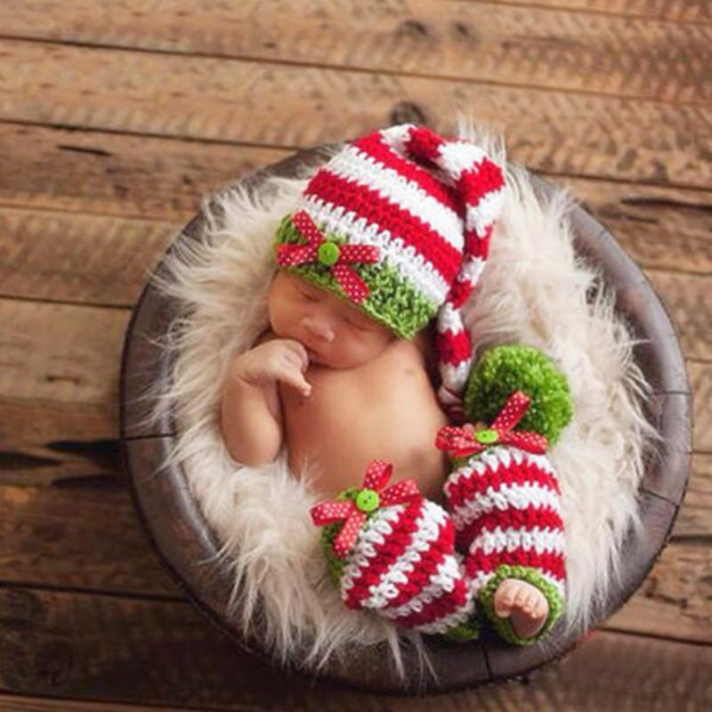 Christmas Stripe New Baby Photo Prop