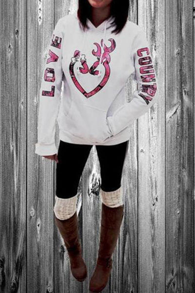 Christmas Letters Printed Long Sleeve Hoodies & Sweatshirts
