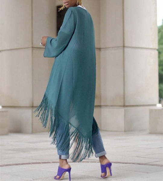 Autumn And Winter Fashion Is A Tassel Jacket