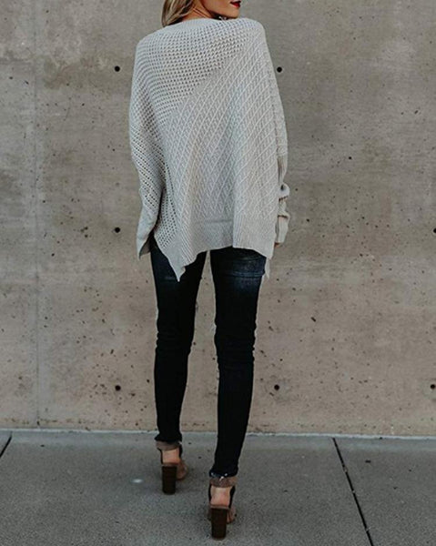 Fashion Zipper Shoulder Knitted Sweaters