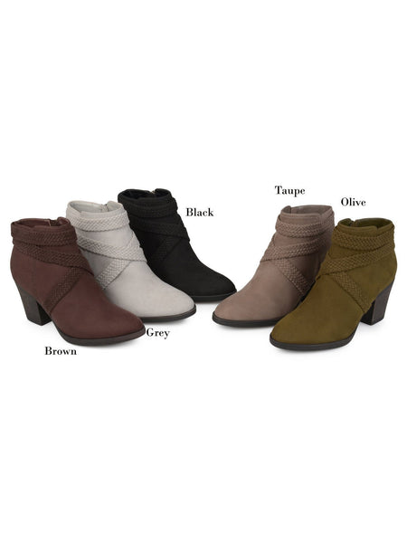 Casual Pure Colour High Heel Short Martin Boots