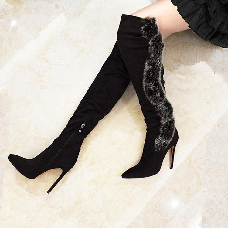 Sexy High Heel Over Knee Pointed Boots