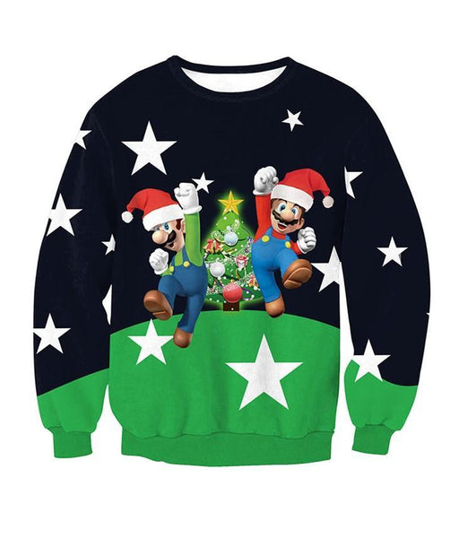Christmas Fashion Print Pullover Top