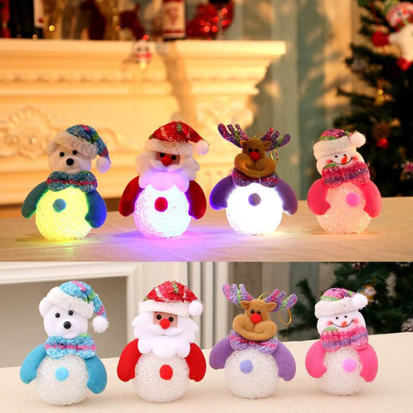 Christmas Tree Decorations Glow Hanging Dolls