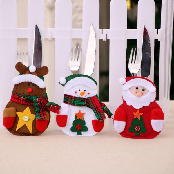 Christmas Knife And Fork Set Tableware Bags